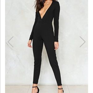 In too Deep Plunging Jumpsuit